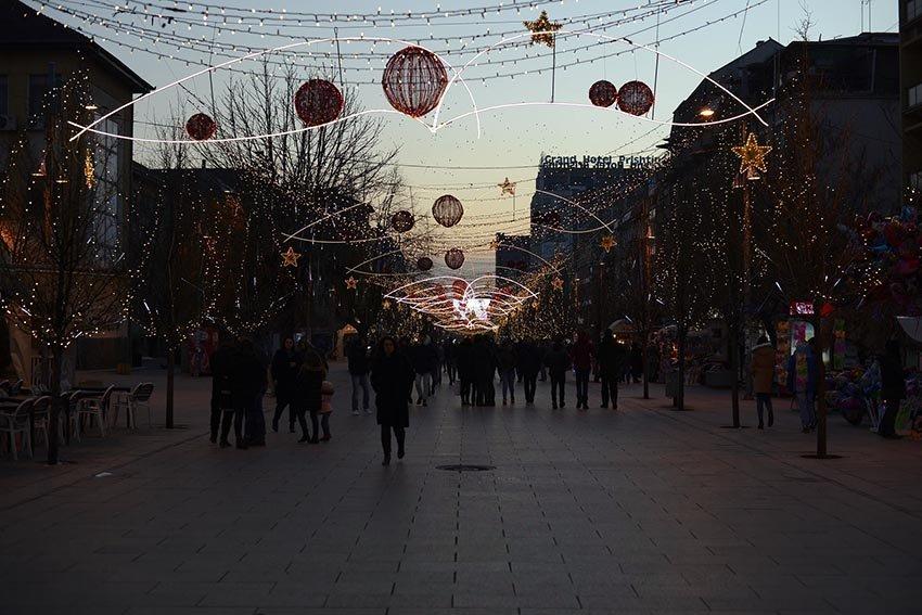 """Ngjyrat e Vitit të Ri  edhe në Sheshin """"Nëna Terezë"""", Prishtinë"""