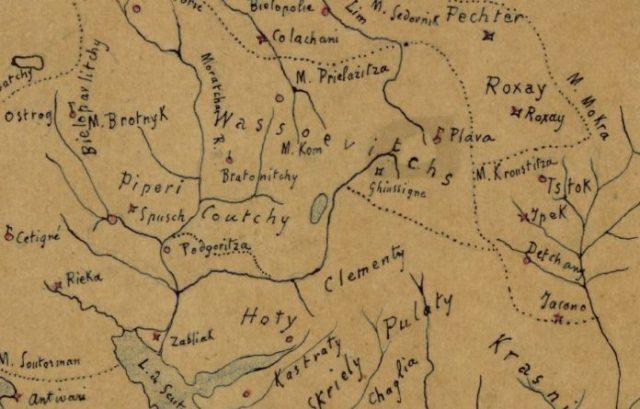 Fiset shqiptare në Mal të Zi, hartë e rrallë e vitit 1839