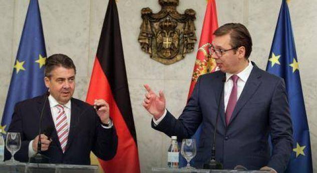 Ministri gjerman, Vuçiqit: Anëtarësimi i Serbisë në BE varet nga raporti me Kosovën
