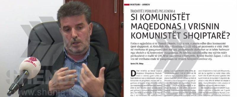 Historia përsëritet: Historiani Qerim Lita sjell dokumente të mashtrimit dhe vrasjes së shqiptarëve