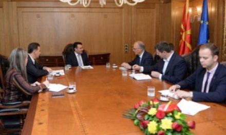 Zaev në takim me Vanhojte dhe përfaqësuesit e SHGM-së
